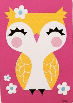 'Giggle Owl' by littlebeehive