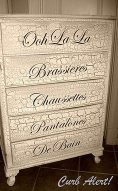 DIY French Inspired Decor: From Blah to Ooh-La-La {Dresser} -