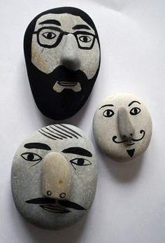Make Faces With Rocks