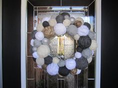 Jute Monogram Wreath with Book Page Rosettes by EmbellishedLiving