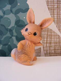 Vintage Bunny Rabbit Squeaky Toy