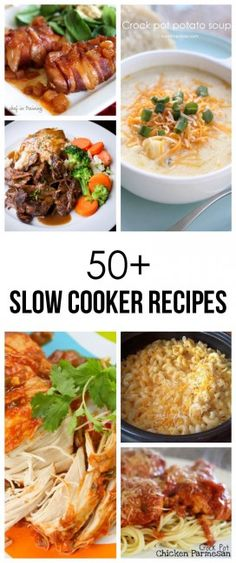 50 delicious slow cooker recipes. These are SO beyond chili and roast beef. I'm so excited to try these!