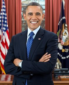 POTUS's new official photo. LOVE the big smile.
