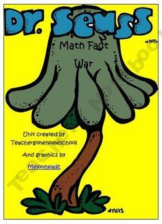 Dr. Seuss Math Facts War