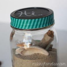 Beachy Mason Jar Terrarium | Making Home Base