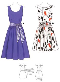 If I could sew, I would sew a retro looking dress like these!