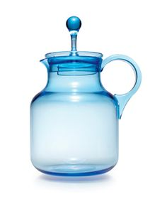 Sagaform Happy Days Pitcher. It might look breakable, but this pale blue pitcher is made from durable plastic.