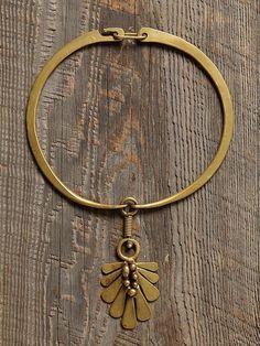 jack boyd, vintage brass necklace