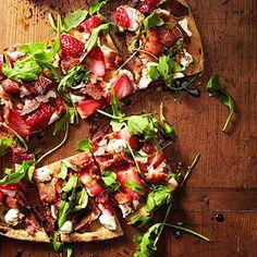 Strawberry-Bacon Pizza