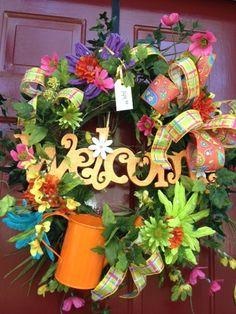 Spring Wreath $147.99 plus Shipping  Jennifer@ShowMeDecorating.com