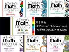 A Teacher's Math Resource Units 1-6 Complete!  CC aligned