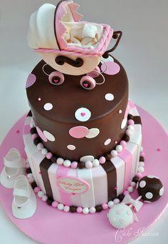 How to Make a Stroller Cake Topper ~ http://cakefixation.blogspot.com/2011/09/how-to-make-stroller-cake-topper.html