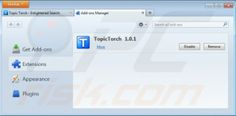 Removing topic torch from Mozilla Firefox step 2. Optional method: Computer users who have problems with removal of the Topic Torch add-on can reset ...