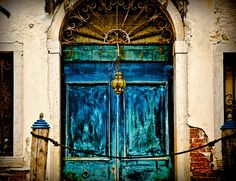 Doges Palace doors, Venice, Italy