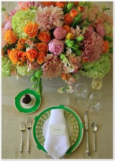 Spring tablescape - #flowers by Brown Paper Design