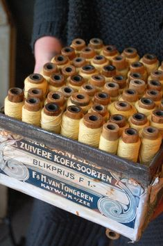 #Vintage crate of #thread