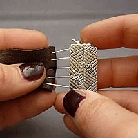 How to make leather jewelry, finish leather cord with silver clasps. Learn jewelry making at Nina Designs. Using pinheads to attach findings to leather. Great DIY - with tons of photos & detailed instructions.