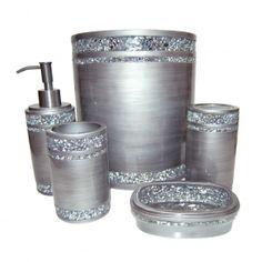 Metallic Bath Collection By J Queen Bathroom Accessories Pinterest