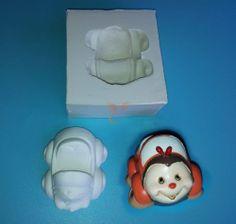 Stampo in silicone per macchinetta thun per bomboniere o paste modellabili