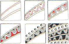 zentangl border, zentangl inspir, zentangl tutori, zentangl string, zentangl pattern, doodl, art deco, deco border, zentangle patterns