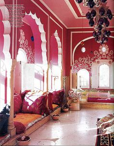 Indian Inspiration from Inspiration Galore - American Gypsy Decor. www,americangypsyliving.com  #indian decor, #color