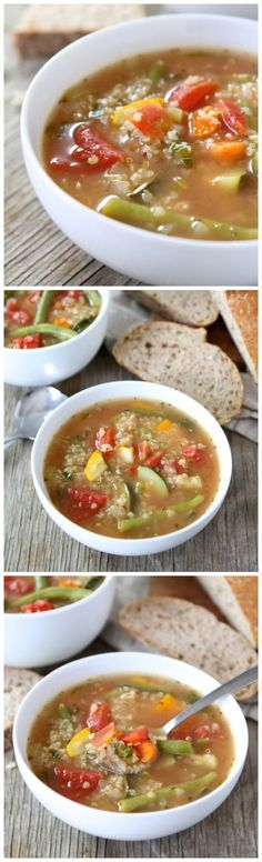 Easy Vegetable Quinoa Soup on twopeasandtheirpod.com Love this healthy and simple vegetable soup recipe!