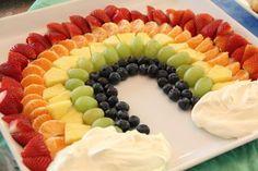 Brunch: cool idea for fruit with fruit dip.