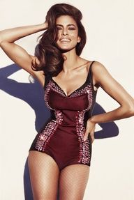 Black and Red Glitter Leotard / Catsuit worn By Eva Mendes. Buy your Catsuit for dance from DCUK Dance Clothes.