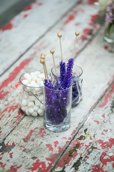 Purple Rock Candy Baby Shower Decor
