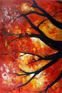 paintings of trees | Organic Abstract Art Paintings