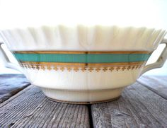 Vintage Lenox bowl Serving dish Handpainted by WhiteDogVintage, $25.00
