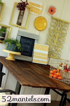 #52Mantels makeover of a frosted glass patio table using old fencing