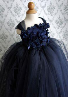 Flower girl dress Navy Blue tutu dress flower top by FashionTouch, $70.00   Keywords: #navyblueweddings #jevelweddingplanning Follow Us: www.jevelweddingplanning.com  www.facebook.com/jevelweddingplanning/