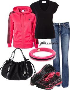 """""""Hot Pink & Black"""" by jklmnodavis on Polyvore"""