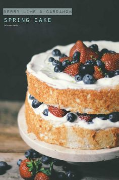 lime berry cardamom cake by abrowntable, via Flickr