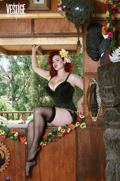 models, pin up poses, hair colors, lingerie, pinup girl, beauti, tiki pin, gia genevieve, photography