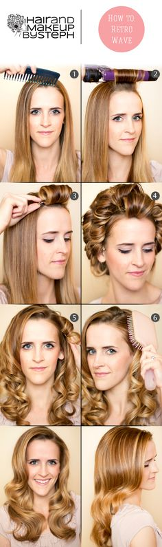 Holiday Party Hair: Retro Waves HOW TO. Hair inspiration by Top Pinner @Stephanie Brinkerhoff. See the steps here: http://blog.hairandmakeupbysteph.com/2012/04/how-to-retro-curls.html #Sephora #Tresscode
