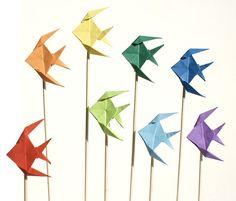 Origami aquarium.