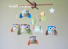 Baby Crib Mobile - Baby Mobile - Owl Baby Mobile
