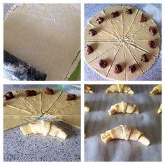 Cómo hacer croissants caseros rellenos de chocolate - Recetín