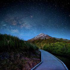 Mt.Egmont Under The Stars, Taranaki, New Zealand