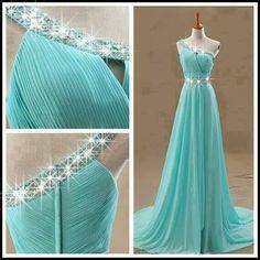 evening dresses, beauti dress, bridesmaid dresses, long blue, long prom dresses, baby blues, shoulder dress