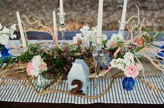 table decor with nautical touches   Faith Teasley #wedding