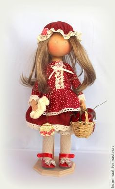 "Men handmade.  Fair Masters - Textile handmade doll ""CHERRY""."