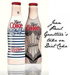 Diet Coke bottles designed by Jean Paul Gaultier.