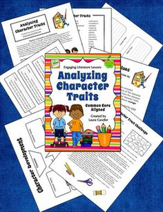 Analyzing Character Traits - (Common Core Aligned - RL.3.3, RL.4.3, RL.5.3) This 24-page packet offers a variety of strategies and printables for teaching students to analyze character traits. You'll find graphic organizers, specific lessons, a bibliography of suggested books, and more. Preview entire packet online. $