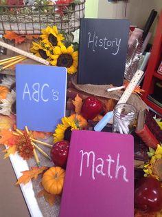 Monica Potter DIYs chalkboard notebooks to send your kids to school with! #notebook #chalk #chalkboard #notebook #school #kids #homeandfamily #homeandfamilytv