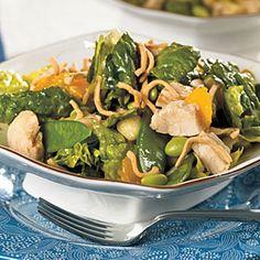 Chicken and Edamame Asian Salad | MyRecipes.com #myplate #protein #vegetable #fruit #grain