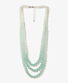 Layered Ombré Bead Necklace   by Forever 21