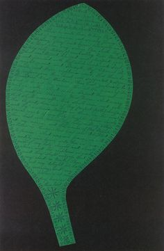 a world of notice, love  blessing from abraham of old, mt. lebanon, ny, march 2, 1845, by polly ann reed  leaf-shaped cutout from heavenly visions: shaker gift drawings and gift songs